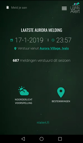 App screenshot dutch front view