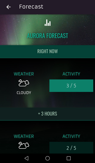 App screenshot english forecast view